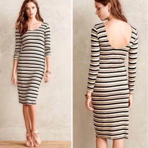 Anthro Dolan Prita Midi Dress Striped sz L